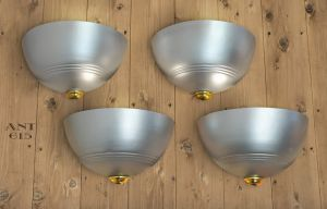 Streamline Art Deco Wall Sconces Set of 4 Modern Lights Fixtures (ANT-615)