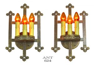 Gothic-or-Arts-and-Crafts-Style-Bare-Bulb-Candle-Wall-Sconces-Lights-(ANT-624)