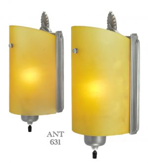 Art-Deco-Streamline-Modernist-Pair-Wall-Sconces-Early-Modern-Lights-(ANT-631)