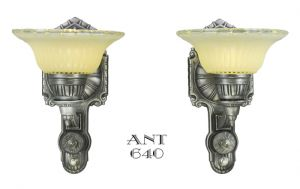 Art-Deco-Streamline-Style-Wall-Sconces-Pair-Antique-Lights-Fixtures-(ANT-640)