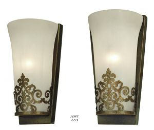 Edwardian-Style-Wall-Sconces-Half-Cylinder-Shape-Frosted-Glass-Lights-(ANT-653)