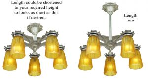 Art-Deco-Chandeliers-Pair-5-Arm-Pewter-Ceiling-Lights-1930s-Fixtures-(ANT-654)