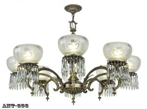 Edwardian 8 Arm Chandelier Large Ceiling Light Gasolier Style Fixture (ANT-656)