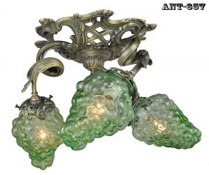 French-3-Light-Close-Ceiling-Wine-Chandelier-Fixture-and-Grape-Shades-(ANT-657)