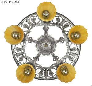 Edwardian-Antique-Chandelier-Semi-Flush-Mount-5-Light-Ceiling-Fixture-(ANT-664)