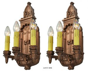 Antique-Victorian-Wall-Sconces-Pair-of-Plaster-Lights-1880s-Fixtures-(ANT-676)