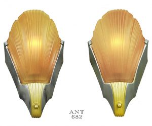 Art-Deco-Streamline-Style-Early-Modern-Wall-Sconces-Pair-1930s-Lights-(ANT-682)