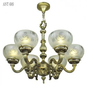 Antique-Chandelier-French-6-Arm-Ceiling-Light-Fixture-Circa-1920-(ANT-685)