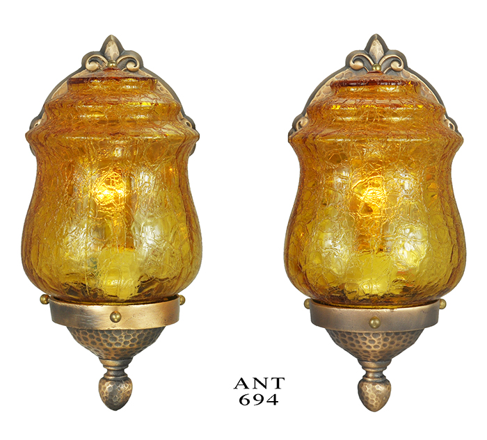 Vintage Hardware & Lighting - Arts & Crafts Style Wall Sconces Pair ...