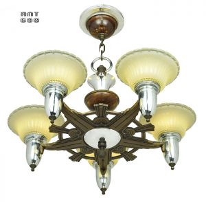 Art-Deco-Streamline-Style-Chandelier-Antique-5-Light-Ceiling-Fixture-(ANT-698)