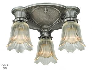 Art Deco Close Ceiling Lights Pair of Semi Flush Mount Chandeliers (ANT-702)