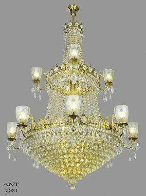Large Crystal Chandelier Elegant Grand Ballroom Ceiling Light Fixture (ANT-720)