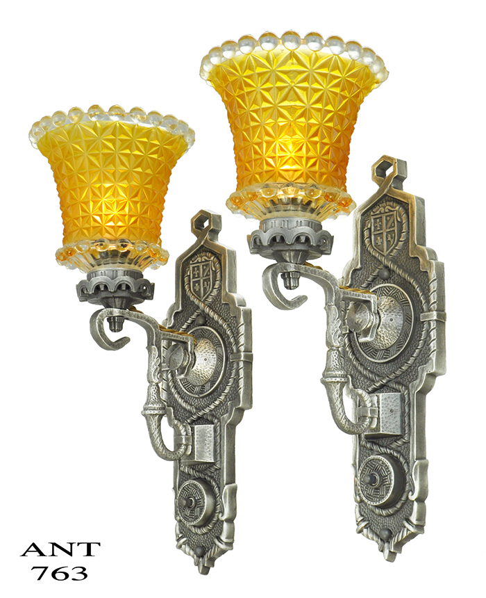 Vintage Hardware Lighting Pair Of Antique Edwardian Wall Sconces