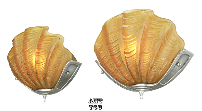 Art Deco Odeon Theatre Wall Sconces Antique Clam Shell