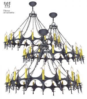 Large 48 Inch Wide Chandelier Gothic 18 Light Candle Ceiling Fixture (ANT-775)
