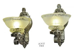 Antique Wall Sconces Edwardian Lighting Fixtures Cup Shade Lights (ANT-785)