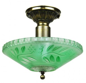 Antique Glass Ceiling Bowl Light Fixture (ANT-805_BOWL)