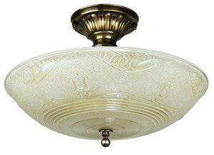 Antique Glass Ceiling Bowl Light Fixture (ANT-807)