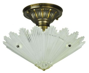 Antique Glass Ceiling Bowl Light Fixture (ANT-808_BOWL)