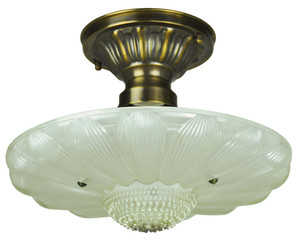 Antique Glass 3 Chain Ceiling Bowl Light Fixture (ANT-809_BOWL)