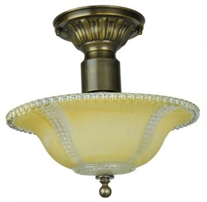 Antique Glass Ceiling Bowl Light Fixture (ANT-812-BOWL)