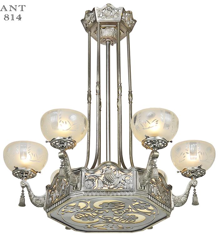 Items Similar To Lighting Rustic Chandelier Vintage 1920 S: Description
