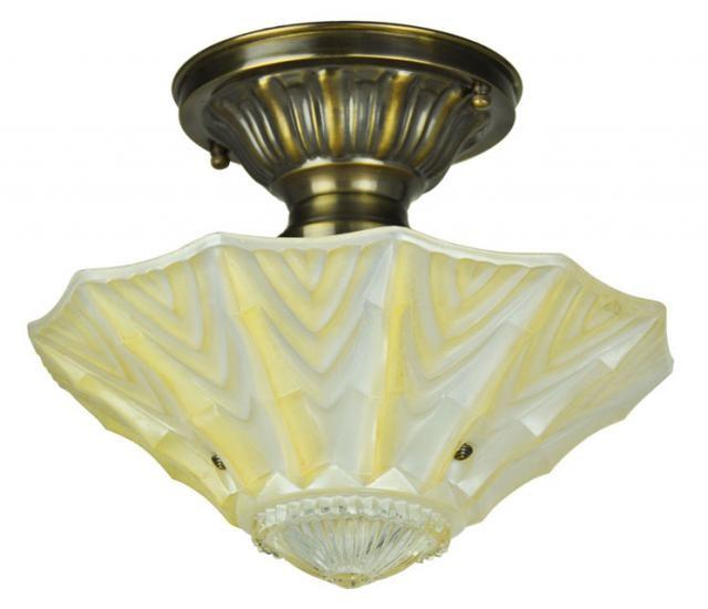 Antique Glass Bowl Ceiling Light Fixture 640 x 550