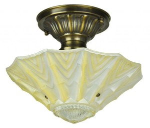 Antique Glass Ceiling Bowl Light Fixture (ANT-815)