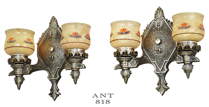Vintage Hardware Amp Lighting Pair Of Antique Wall Sconces