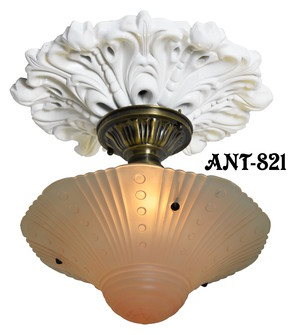 Antique Glass 3 Chain Ceiling Bowl Light Fixture (ANT-821)