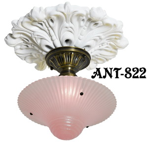 Antique Glass 3 Chain Ceiling Bowl Light Fixture (ANT-822)