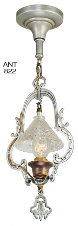 Art Deco Streamline Entry Hall Light Antique Pendant Ceiling Fixture (ANT-822)
