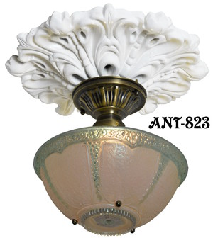 Antique Glass 3 Chain Ceiling Bowl Light Fixture (ANT-823_BOWL)