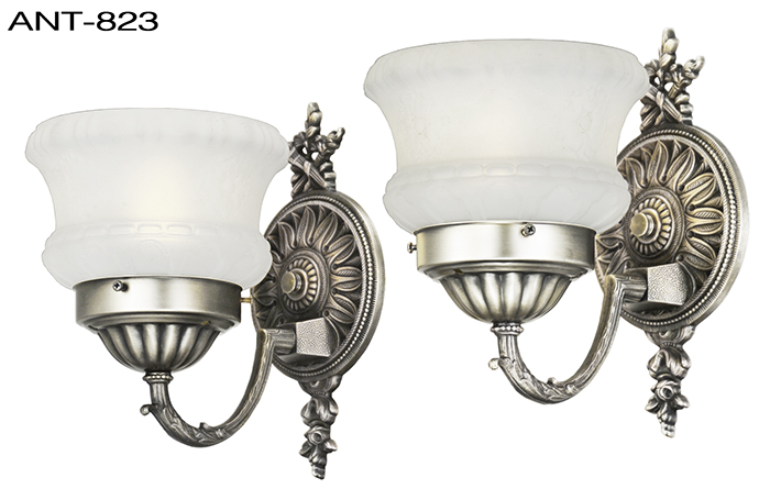 Antique Wall Sconces 1920s Pair Of Edwardian Style Light Fixtures Ant 823