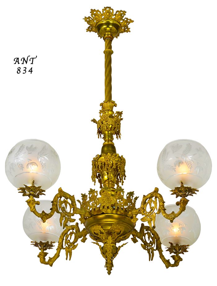 Vintage hardware lighting pair of antique chandeliers victorian quantity aloadofball Gallery