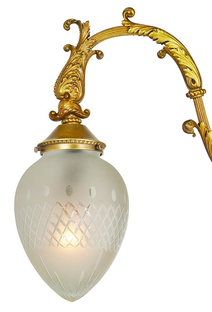 Vintage Hardware Amp Lighting Antique Brass 2 Arm Hall