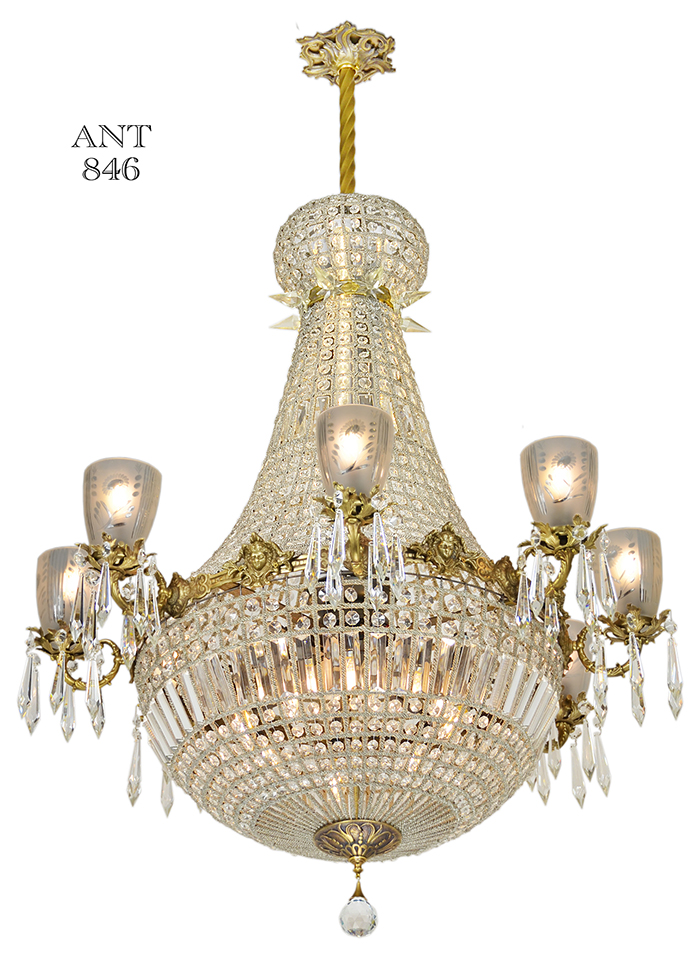 Vintage Hardware Amp Lighting Vintage Crystal Chandelier