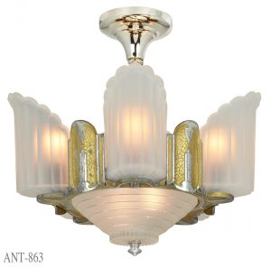 Streamline Deco Antique Chandelier Slip Shade Ceiling Light Mid West (ANT-863)