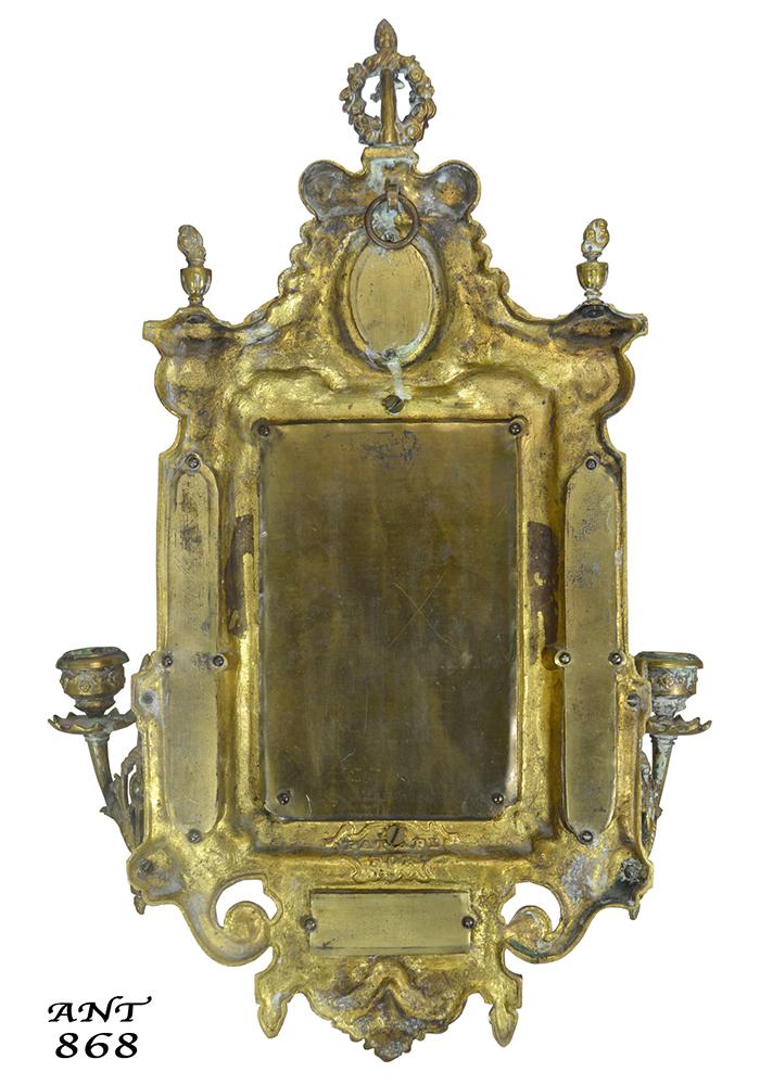 Vintage Hardware Amp Lighting Antique Wall Mirror