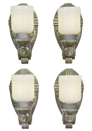 Set of Four Antique Deco Wall Sconces American Design 1920s Lights (ANT-880)