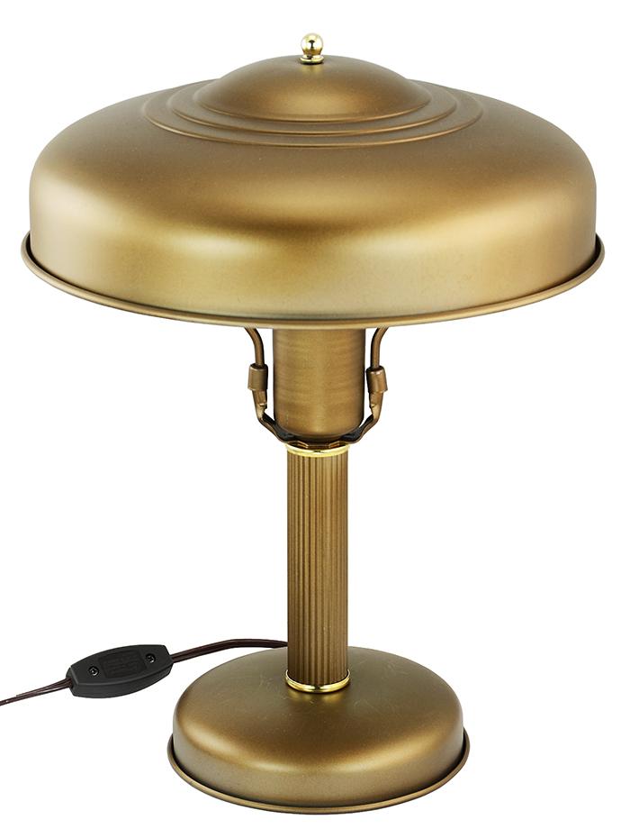 vintage hardware lighting art deco streamline table lamp metal shade rewired antique desk. Black Bedroom Furniture Sets. Home Design Ideas