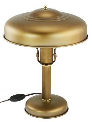 Art Deco Streamline Table Lamp Metal Shade Rewired Antique Desk Light (ANT-891)