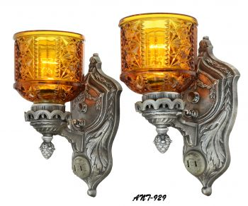 American Pair of Edwardian Design Fancy Sconces (ANT-929)