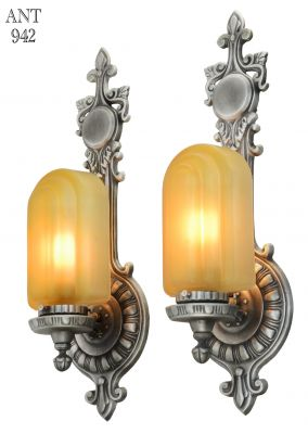 Wonderful Pair of Matching 1920's to Art Deco Sconces (ANT-942)