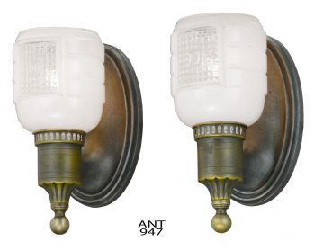 American Pair of Art Deco Streamline Design Sconces (ANT-947)