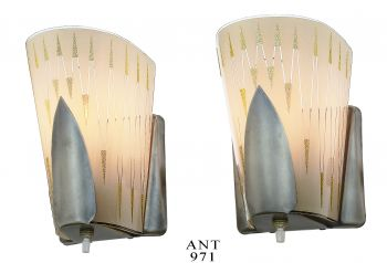 Mid-Century-Modern Pair of Wall Sconces by Virden (ANT-971)