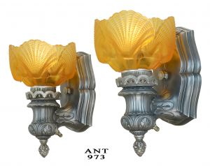 Twenties Era Wall Sconces..a Pair (ANT-973)
