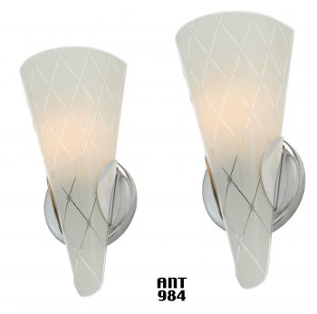 Mid-Century-Modern Pair of Wall Sconces (ANT-984)