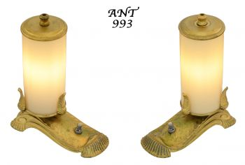 Unusual Edwardian Style Small Accent Table Lights (ANT-993)
