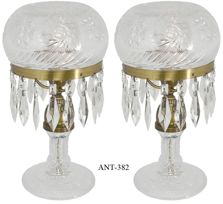 Vintage hardware lighting pair of cut glass mushroom lamps vintage hardware lighting pair of cut glass mushroom lamps ant 382 aloadofball Gallery
